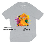 Personalized Organic Short Sleeve Kids Tee Shirt - Colorful Ben (Grey)