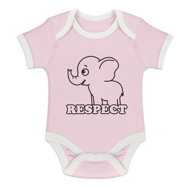 Organic Short Sleeve Bodysuit - Respect Elephant