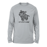 Organic Long Sleeve Kids Tee Shirt - Ancient Rhino