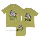 Matching Family Organic Tee Shirts - Ray In The Backyard (Green)