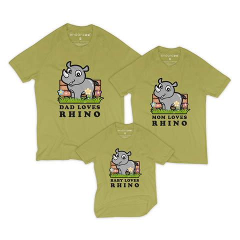 Matching Family Organic Tees - Ray In The Backyard (Green)