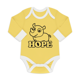Organic Long Sleeve Bodysuit - Rhino Hope