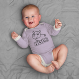Organic Long Sleeve Onesie - Rhino Hope