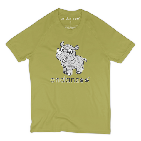 Organic Short Sleeve Kids Tee Shirt - Rhino And Its Origin