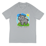 Organic Short Sleeve Kids Tee Shirt - Rhino In A Wonderful World
