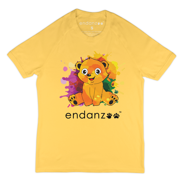 Organic Short Sleeve Kids Tee Shirt - Colorful Polar Bear