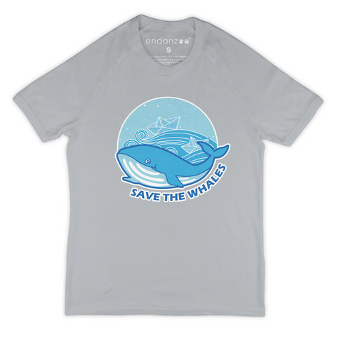 Organic Short Sleeve Kids Tee Shirt - Save The Whales