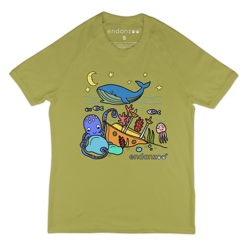Organic Short Sleeve Kids Tee Shirt - Whale & Ocean Friends