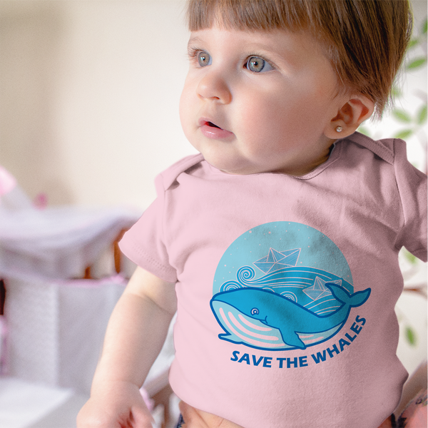 Organic Short Sleeve Bodysuit - Save The Whales