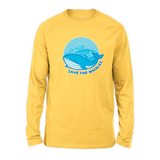 Organic Long Sleeve Kids Tee Shirt - Save The Whales