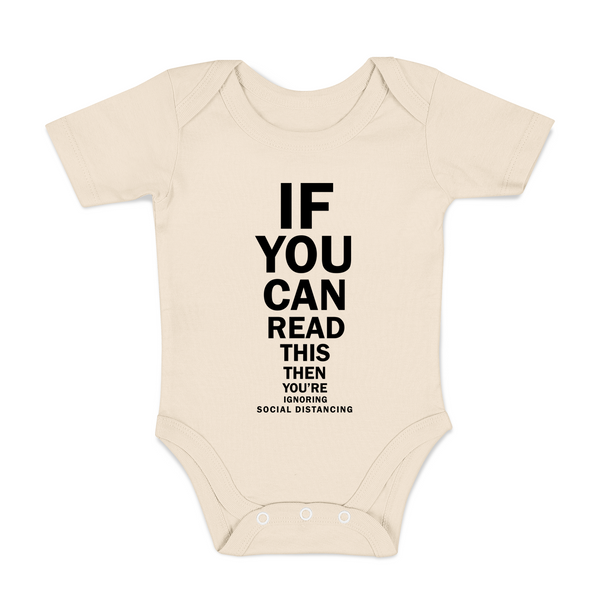Social Distancing Funny Organic Baby Bodysuit