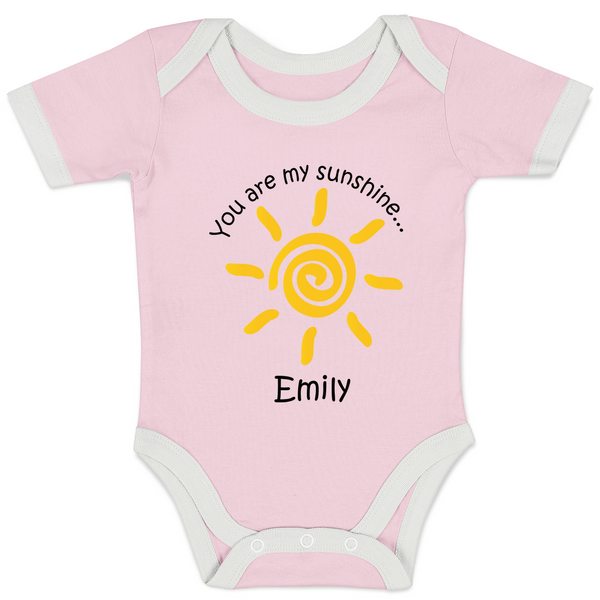 [Personalized] You are my Sunshine - Organic Baby Bodysuit