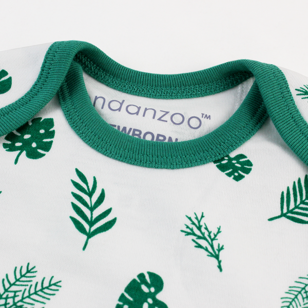 Endanzoo Organic Short Sleeve Onesie - Tropical Rainforest