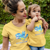Personalized Organic Short Sleeve Kids Tee Shirt - Mimi Against Odds (Yellow)