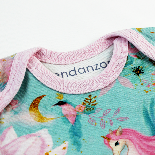 Endanzoo Organic Short Sleeve Onesie -  Mystical Unicorns