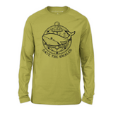 Organic Long Sleeve Kids Tee Shirt - Whale with Anchor