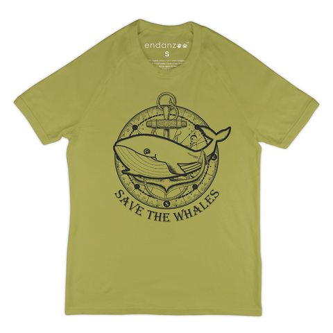 Whale With Ship Anchor - Save The Whales - Organic T-Shirt - Men
