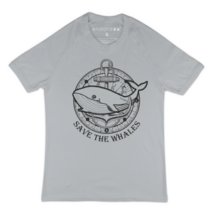 SAVE THE WHALES ORGANIC TEE SHIRT FOR WOMEN