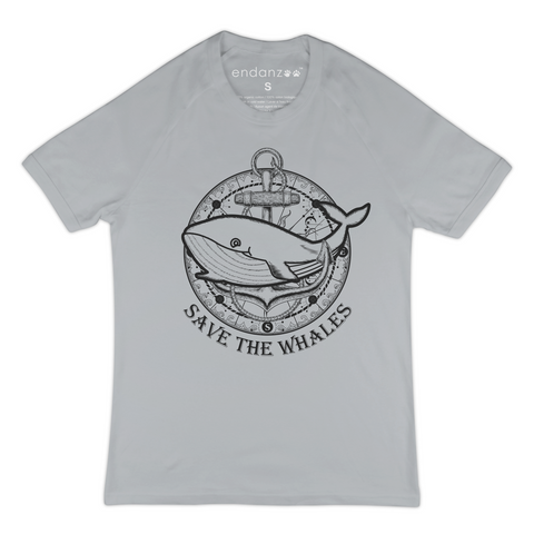Whale With Anchor - Save The Whales - Organic T-Shirt - Women