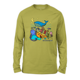 Organic Long Sleeve Kids Tee Shirt - Whale & Ocean Friends
