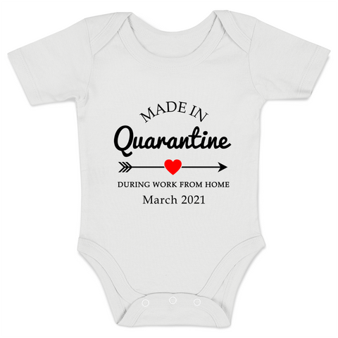 [Personalized] Made in Quarantine Organic Baby Bodysuit