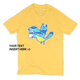 Matching Family Organic Tee Shirts - Macaw birds Against Odds (Yellow)
