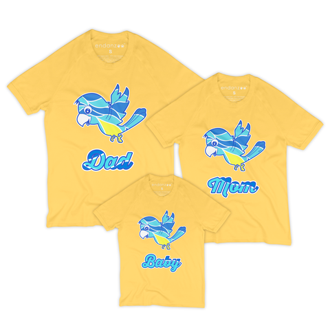 Family Organic Short Sleeve Tees - Mimi Against Odds (Yellow)