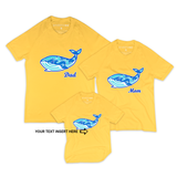 Matching Family Organic Tee Shirts - Will Making Waves (Yellow)