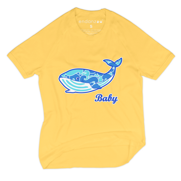 Personalized Organic Short Sleeve Kids Tee Shirt - Will Making Waves (Yellow)