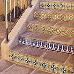 Decorative Malibu Tiles Make Eye-Catching Stair Risers