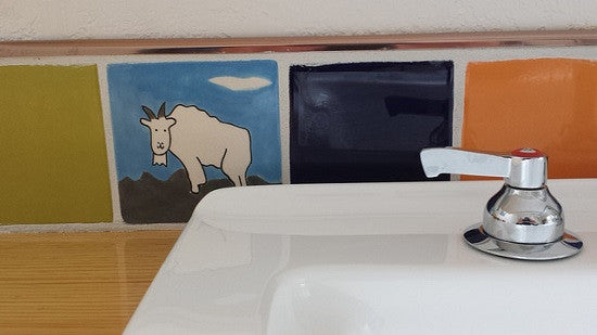 Animal Tiles Add Touch of Fun to Utility Room