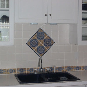 Cadiz spanish tile for a kitchen backsplash avente tile for Spanish style kitchen backsplash
