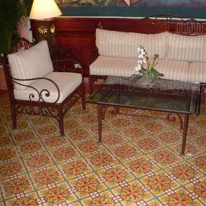 Cement Tile Brings Warmth, Coziness to Sitting Area