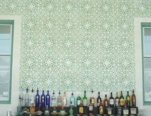 Cement Tile Captures Calm for Bar Backsplash