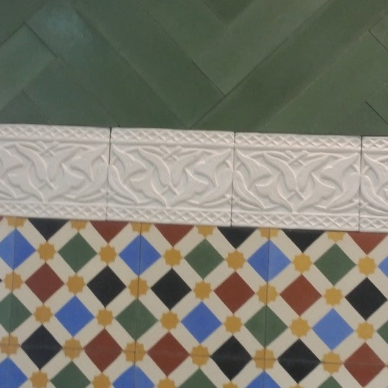 Moroccan Cement Tile is Perfect Pattern for Bath Floor