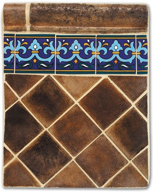Concept for Rustic Pavers as Wall Tile with Malibu Deco