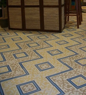 Cuban Cement Tile Pattern Provides Interest and Sense of Flow