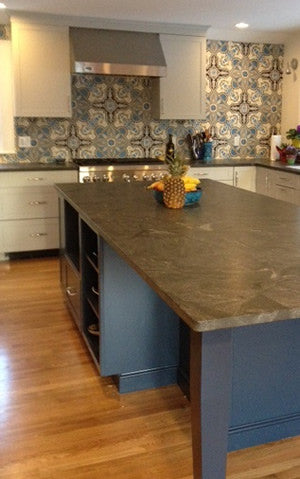 Cuban Tile Backsplash Blends with Contemporary Kitchen