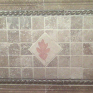 Custom Colored Leaf Imprint Backsplash