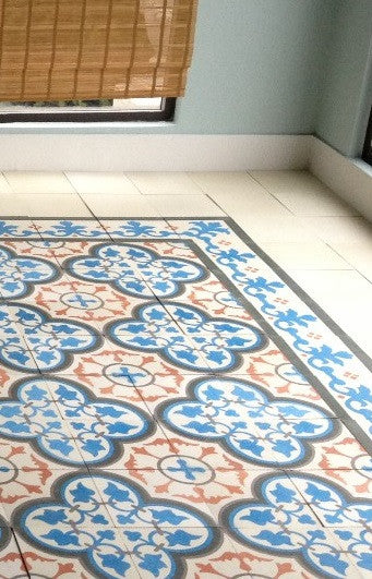 Custom Colors Add Zing to Classic Pattern and Rug