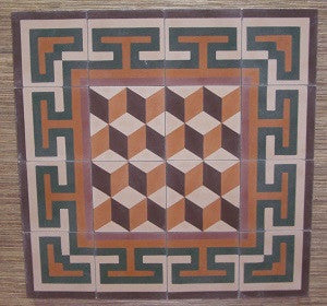 Geometric Cement Tile Medallion Creates Welcoming Commercial Entry