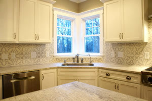 Hip Cement Tile Pattern Makes a Cohesive Kitchen Backsplash