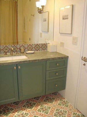 Malibu Tiles for Colorful Bathroom Backsplash