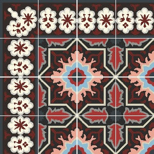 Melilla Cement Tile Rendering: An Alternate Colorway