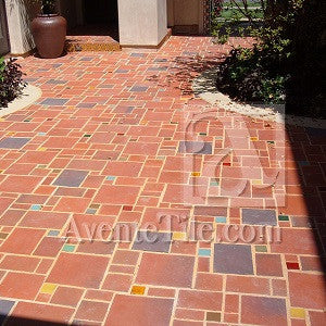 Rustic Terracotta Tiles Mix it Up with Patchwork Patio Design