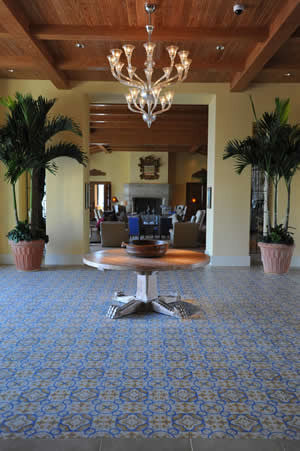 San Tropez Cement Tile Foyer