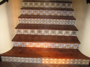Spanish Style Stair Risers