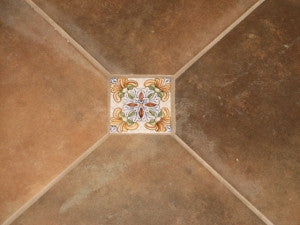 Spanish Tile Insets Add Charm to Floor