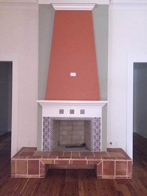 Spanish Tile Provides Color, Pattern to Fireplace Hearth