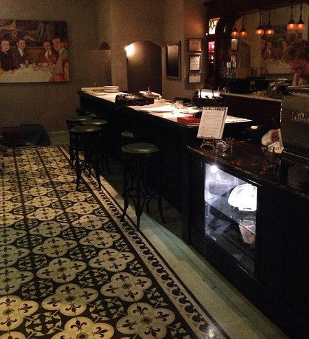 Cement Tile Provides French Bistro with Classic Look